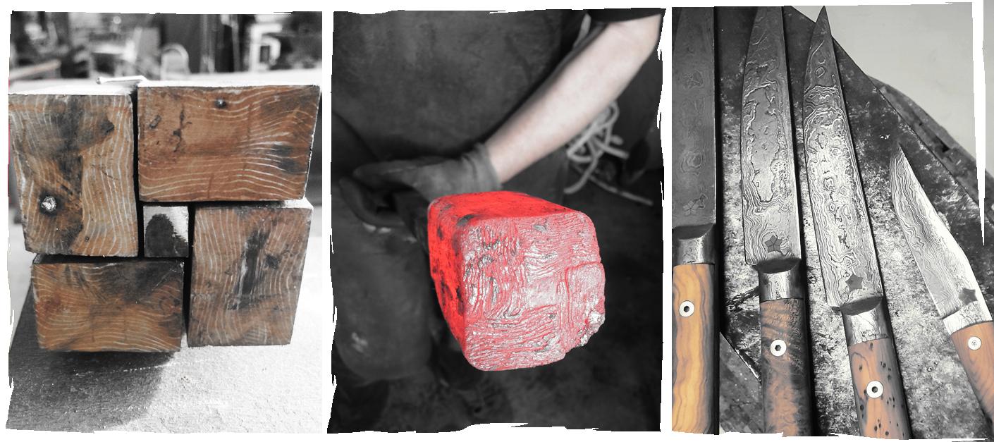 Fabrication de Couteaux Damas